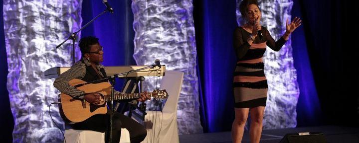 Marie-Christine Depestre au 5e Gala d'excellence de la JCCH