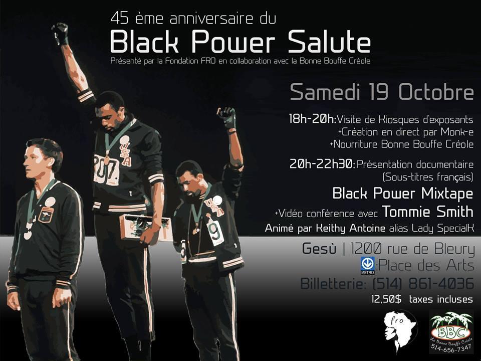 45ème anniversaire du Black Power Salute